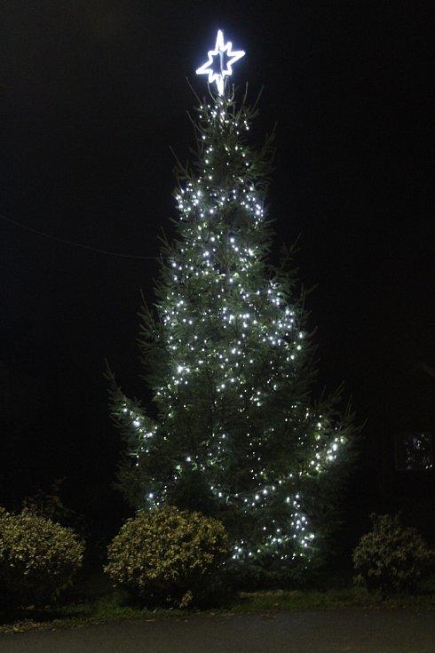 Vánoční strom 2020 v Hradčovicích