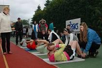 Na atletickém stadionu v Kroměříži se konalo okresní kolo přeboru Odznak všestrannosti olympijských vítězů.