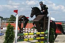 Na ranči v Kostelanech se 14. 6. 2008 konal 10. ročník Mzinárodního mistorvství Policie ČR v jízdě na koni.