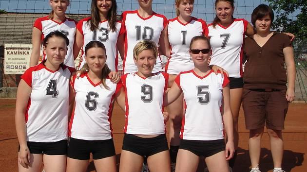 Vlevo nahoře: Bednaříková, Němečková, Sovová, Šamánková, Valková, Neuwirthová. Vlevo dole: Holásková, Fuksová, Pallová a Sokolová.
