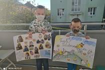 Děti ze SVČ TYMY potěšily velikonočními dárečky seniory v CPS.
