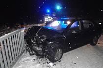 Dopravní nehoda u Brusné na Kroměřížsku.