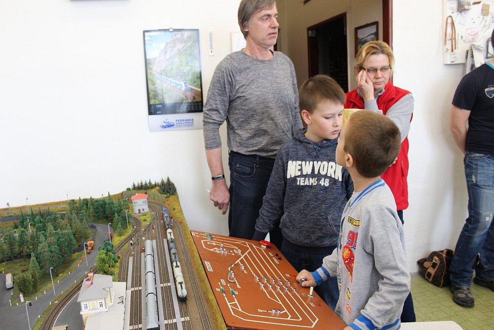 Kolejiště kroužku Železničních modelářů v Holešově