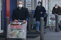 Nošení respirátorů v Kroměříži, 25. února 2021