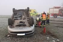 Dopravní nehoda v pátek 11. prosince u Žalkovic.