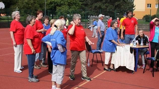 Sportovní den za účasti partnerského města Nitra uspořádal ve středu 7.9. v Kroměříži tamní Klub seniorů.