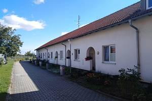 Bytovka v Zářičí  postavená po povodních v roce 1997.