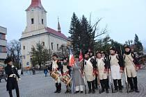 Dušičkový pochod s napoleonskými vojáky v Bystřici pod Hostýnem