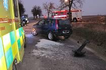 Při nehodě utrpěla řidička šok a poranila si nohu
