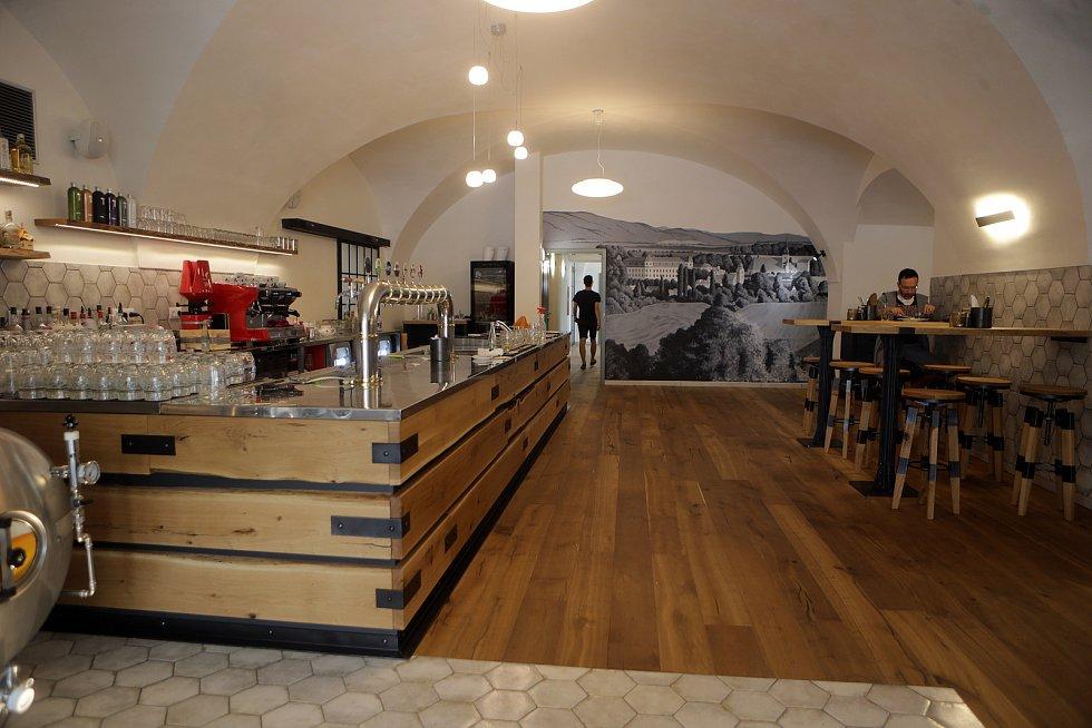 Exteriér a interiéry zrekonstruovaného pivovaru v Holešově.