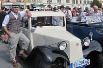 Sraz veteránů na kroměřížském Velkém náměstí