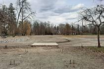 Divoký rybník v kroměřížské Podzámecké zahradě, duben 2021.