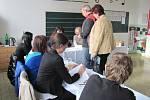 Foto z volební místnosti ze Střílek