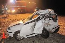 Tragická dopravní nehoda se odehrála v jednu hodinu po půlnoci na úterý 21. února u Hulína.
