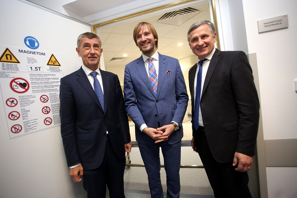 Slavnostní otevření magnetické rezonance v Kroměřížské nemocnici.