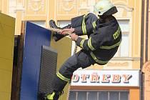 Soutěž hasičů Český pohár v disciplínách TFA 2016 v Kroměříži na náměstí.