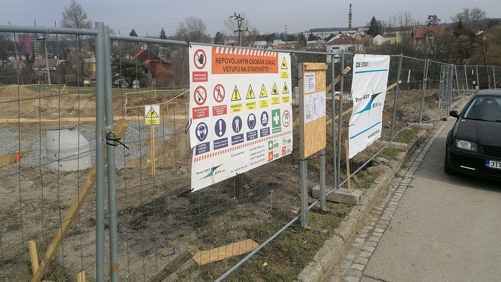 Stavba nové hasičské stanice v Bystřici pod Hostýnem
