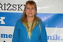 Na snímku dlouholetá levicová volička z Kroměříže Ilona Zahradníková.