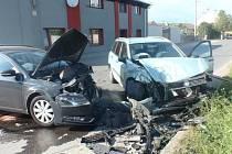 Bez zranění se v úterý 10.5. obešla srážka dvou osobních aut ve Skašticích.