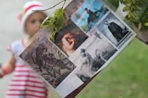 Výstava v Podzámecké zahradě.