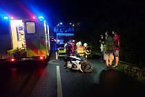Nehoda motorky u Kvasic