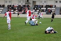 Fotbal MSFL: Hanácká Slavia Kroměříž s Hulínem. Ilustrační foto