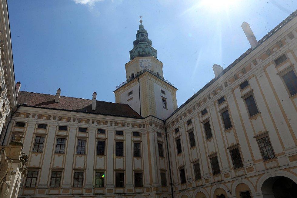 Věž kroměříšského zámku