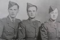 zprava: Antonín Bartoš (velitel), Jiří Štokman (šifrant), Čestmír Šikola (radiotelegrafista)