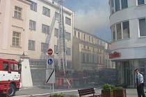 K požáru došlo v kotelně jednoho domu na Velkém náměstí v Kroměříži