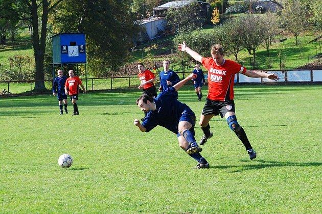Fotbalisté Mysločovic B zahájili vítěznou sérii domácím zápasem s Hlinskem.