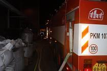 Požár technologie odsávání v jedné z firem na ulici Na Sádkách v Kroměříži.