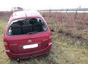 Nehoda na dálnici u Hulína se obešla bez zranění