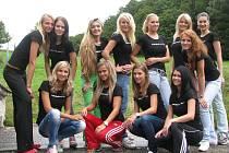 Finalistky druhého ročníku Podhostýnské Miss o víkendu 27. – 29. srpna 2010 na Hotelu Rusava během soustředění cvičily choreografii na finálový večer.