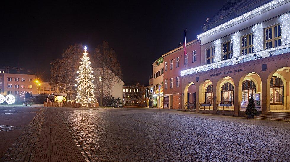 Vánoční strom ve Zlíně.
