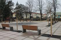 Revitalizace Slovanského náměstí v Kroměříži je dokončena.