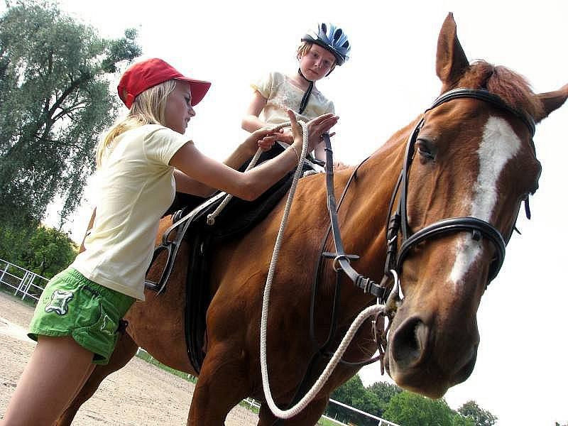 Tábor na koních. Ilustrační foto