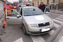 Dopravní nehoda, k níž došlo ve čtvrtek 19.1. dopoledne ve Velehradské ulici v Kroměříži, si vyžádala tři zraněné.