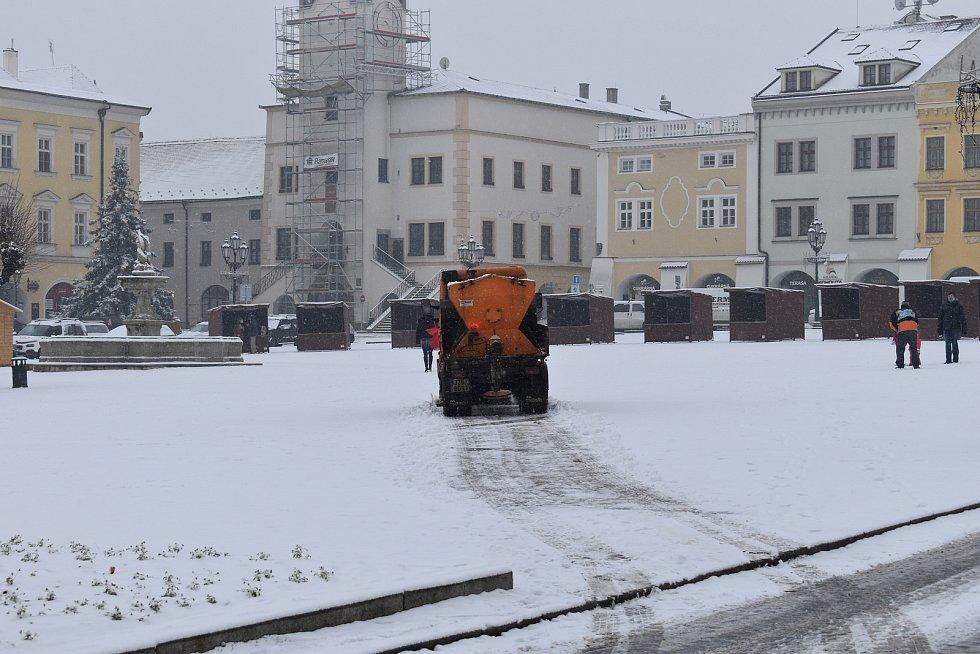 Sněhová nadílka, 3.12.2020, Kroměříž