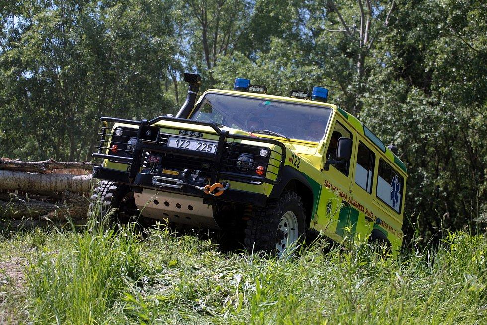Speciální vozidlo kroměřížské záchranky pro zvládání mimořádných událostí