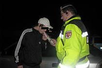 Noční služba kroměřížských strážníků 12. března 2011.