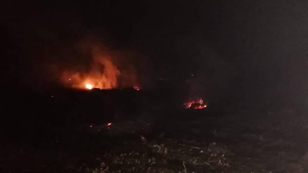 U obce Zástřizly hořel les po pálení klestí.