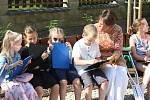 Pasování žáků Základní školy Active Learnig na čtenáře.