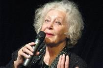 V kroměřížském Domě kultury vystoupila v neděli 10. ledna 2009 herečka Květa Fialová.