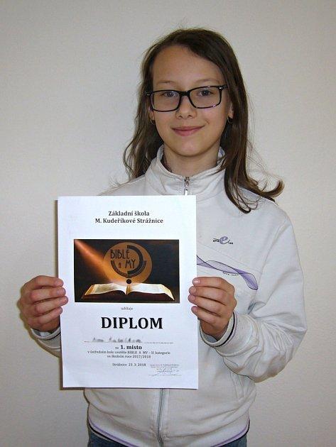 Anna Kutálková z Kroměříže uspěla v celostátní soutěži na téma Bible a my, jejíž finálové kolo se konalo v minulých dnech ve Strážnici.