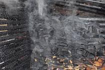 Požár zahradního domku v Loukově