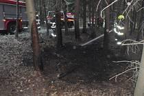 Lesní požár u Rusavy
