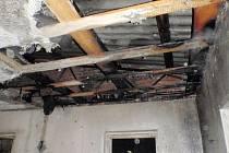 V Bystřici pod Hostýnem došlo k požáru v jedné místnosti budovy u sportoviště.