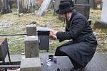 353. výročí úmrtí rabína Šácha na židovském hřbitově v Holešově.