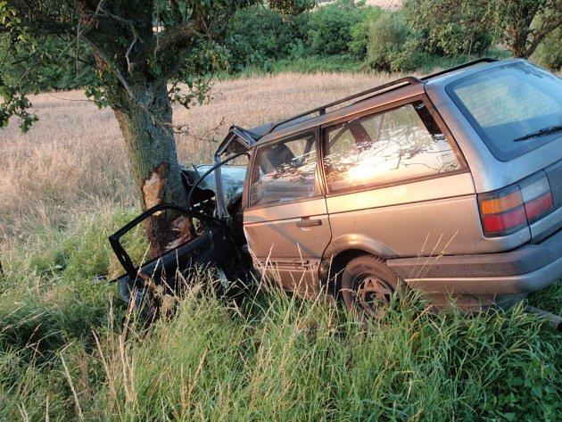 Nehoda dvou osobních automobilů u Kostelan. Ilustrační foto