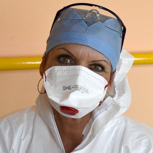 Ošetřovatelka vKroměřížské nemocnici Iveta Hodoušová